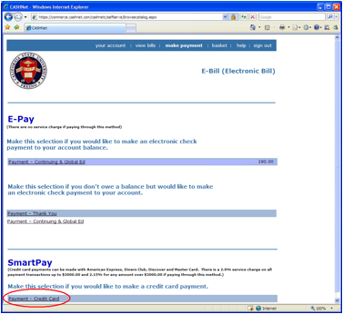 ... your bill pay need enter the amount to pay and select continue step 3